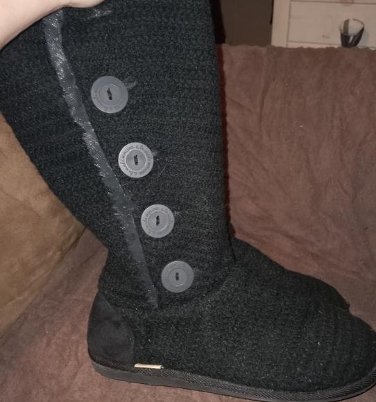 Muk Luk Black Boots